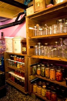 Basement Canning Pantry In A Lodge Cabin Of 280 Square Feet, With A 100 .  Root CellarEclectic KitchenGarden Design ... Part 42