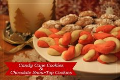 Christmas Cookie Exchange Recipes: Candy Cane Cookies and Chocolate Snow -Top Cookies