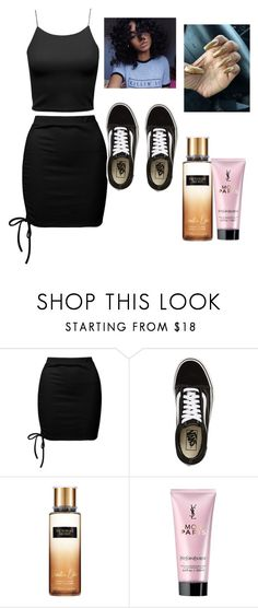 """🎼"" by anacondagaussaint ❤ liked on Polyvore featuring Sans Souci, Vans, Victoria's Secret and Yves Saint Laurent"