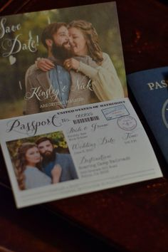 PASSPORT wedding invitations or save the dates! https://www.etsy.com/listing/277315218/travel-themed-vintage-passport-style?ref=featured_listings_row