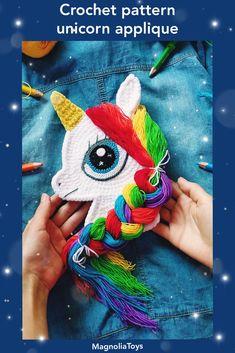 Double Crochet, Single Crochet, Unicorn Hair, Rainbow Unicorn, Sewing Basics, Embroidery Techniques, Crochet Patterns Amigurumi, Mini Books, Beautiful Patterns