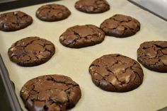 Adventures of an Artist, Wife, and Mom: Chewy Gooey Flourless Chocolate Cookies