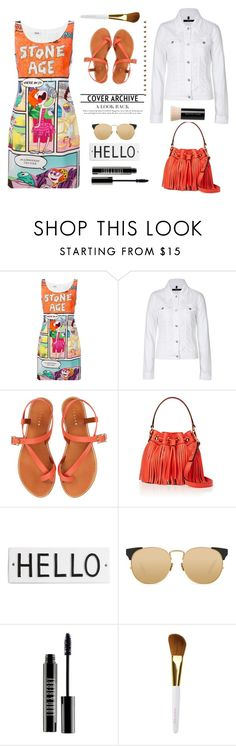 """For funny girls..."" by gul07 ❤ liked on Polyvore featuring Boutique Moschino, J Brand, Jigsaw, Milly, Rosanna, Linda Farrow, Lord & Berry, Isaac Mizrahi and Bare Escentuals"