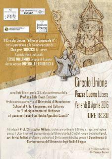 """MedioEvo Weblog: """"L'abbigliamento nel Medioevo e i paramenti sacri del Beato Agostino Casotti"""""""