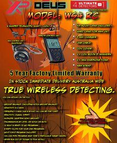 The Xp Deus WS4RC Ready To go. http://detectorist.com.au