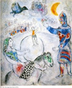 Marc Chagall Circus Paintings | The large gray circus - Marc Chagall - WikiPaintings.org