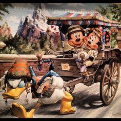 Disney art Mickey Minnie Donald animal kingdom