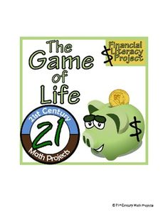 Last Week I did the intro assignments (and updated some on the site!) and this week we shall play The Game of Life -- Financial Literacy Project!