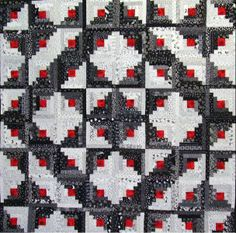 Star Log Cabin ~ very striking. With the red centers, I would like to make a Christmas themed wall hanging with a variety of green colors for the 'dark' strips and snowflake white colors for the 'light' strips.