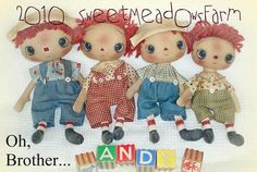 Oh Brother Raggedy Primitive Andy Doll Pattern in 4 sizes $0.00