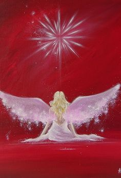 Limited angel art photo encounter modern angel by HenriettesART Top Paintings, Angel Paintings, Angel Artwork, Angel Drawing, I Believe In Angels, Photo D Art, Angel Pictures, Oeuvre D'art, Illustration
