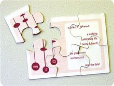 Puzzle Save The Date- Wedding puzzle- save the date ideas- unique wedding ideas- wedding party app blog