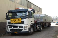A truck loaded with prefabricated floor frames leaves our factory near Mittagong NSW. Floor Framing, Beams, Truck, Flooring, Steel, Design, Trucks, Wood Flooring