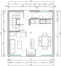 home plans Plano de casa muy peq - home The Plan, How To Plan, Free House Plans, Small House Floor Plans, Small Villa, Casa Patio, Moraira, Tower House, Story House