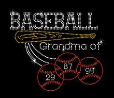 Custom Baseball Grandma Of With Players by MyCreativeOutletTime, $9.95