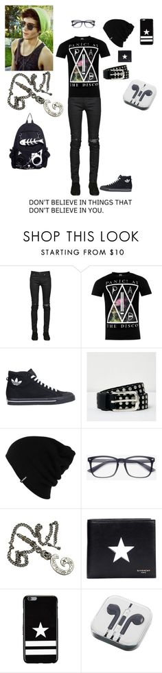 """My OC's boyfriend"" by donut-boi on Polyvore featuring Yves Saint Laurent, adidas, River Island, Patagonia, King Baby Studio, Givenchy, PhunkeeTree, men's fashion and menswear"