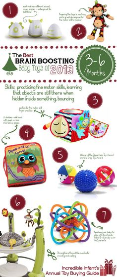 Best Developmental Baby Toys for Ages 3 to 6 Months http://www.incredibleinfant.com/sweet-stuff/best-baby-toys-2013/