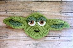 Yoda Crochet Applique Pattern by HappinessAndYarn on Etsy