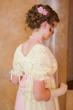 Ideas For Wedding Gown Empire Jane Austen Regency Dress, Regency Era, Ball Hairstyles, Wedding Hairstyles, 1800s Hairstyles, Pink Outfits, Jane Austen, Flowers In Hair, Trendy Wedding