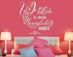 Simple Wandtattoo Wo Liebe ist