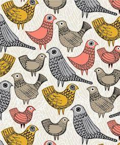 Beautifully illustrated bird pattern
