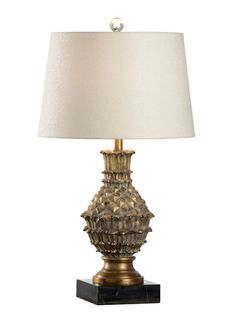 60484 Aloha Gold Lamp by Wildwood Lamps * On SALE * Free Shipping, No Tax on Quality Table Lamps * Visit FineHomeLamps.com Today!