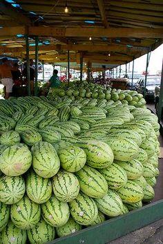 Mercado de Frutos de Manaos, Amazonas, Brasil.