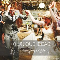 Every bride wants to plan an unforgettable wedding day! Here are cool wedding ideas that will make your day truly unique. Your guests will be blown away!