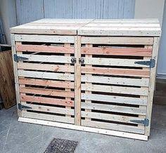 pallet trash can cover