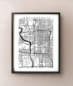 Indianapolis Map Print  Indiana Art Poster  Black by CartoCreative, $20.00