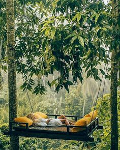 Relaxing at the Kamadalu Ubud Resort in Bali. 📷 by Aggie Lal. Places To Travel, Places To Go, Travel Destinations, Travel Things, Voyage Bali, Bali Travel, Wanderlust Travel, Luxury Travel, Hammock