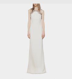 Gucci - silk cady gown with crystal neckline 391974ZFZ509120