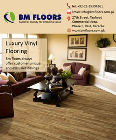 BM Floors is focused on providing quality products that are cost effective, easy to install and maintain while giving an aesthetic look along with a clean and healthy home and office environment. Visit our website for more information www.bmfloors.com.pk