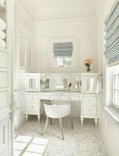Mirrored make up vanity cabinets