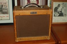 Today, Lawman Guitars is Presenting…  An Excellent 1956 Fender Tweed 5F1 Champ amp. It sounds amazing. I have had 6 of these now and this one sounds the best of all of them. My amp tech said it didn't appear that this one had had much play. Completely gone through..www.lawmanguitars.com
