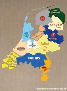 Belangrijkste merken per provincie
