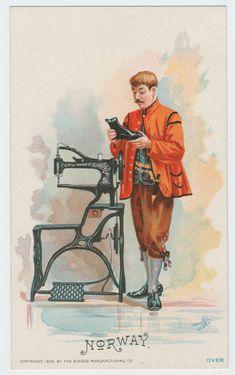 Singer Sewing Machine's World, 1892, Trade Card 1892
