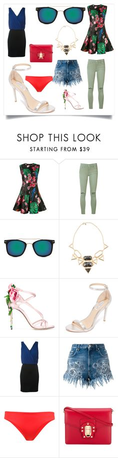 """Fashion With Pompom Top"" by justinallison ❤ liked on Polyvore featuring Valentino, Joe's Jeans, Spitfire, Isharya, Dolce&Gabbana, Rachel Zoe, Versus and ONIA"