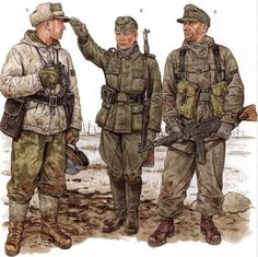 Taken from Osprey Books if u liked this draws u can search and buy the real Books. Soldiers of late period 1944-1945