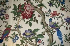 Photos | Hotel Endsleigh. Close up of the wallpaper in the Duchess's sitting room.