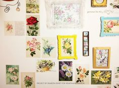 How to make a vintage postcard wall - click through to view the full tutorial on the blog