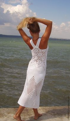white crochet summer dress