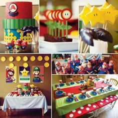 Super mario birthday party by Cake Paper Party. Hostess with the mostess.