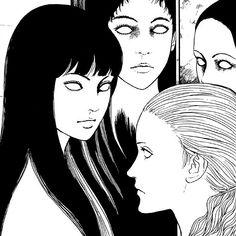 "Itou Junji Kyoufu Manga Collection (""The Conversation Room"") // Junji Ito Junji Ito, Manga Anime One Piece, Japanese Horror, Horror Artwork, Manga Collection, Scary Art, Old Anime, Manga Artist, Creepy Cute"