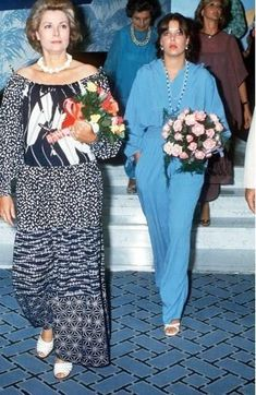 Princess Caroline was one of the fortunate daughters who was old enough to accompany her mother to functions