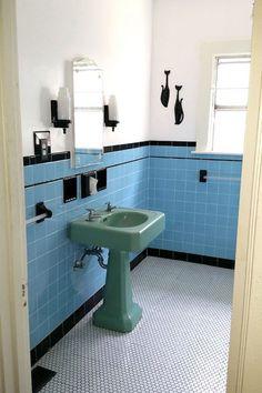 Replicating Alice S Blue Bathroom Tile Floor Bathroom