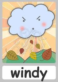Resultado de imagen para the weather for kids flashcards