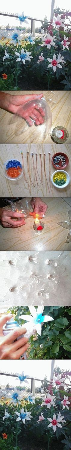 Attach Christmas lights and have pretty flower lights: