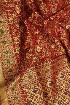 Buy Red Handloom Banarasi Pure Silk Patola Dupatta 34bbff6a743