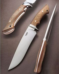 want you to STUDY this knife by Tim from CA. The proportions are SO correct, the sandblasted natural micarta with the Cool Knives, Knives And Swords, Bowie Messer, Trench Knife, Beil, La Forge, Bushcraft Knives, Knife Handles, Handmade Knives